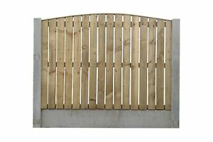 Single Sided Paling - Heavy Duty Fence Panel - Flat, Bow & Concave Top