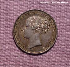 1844 QUEEN VICTORIA YOUNG HEAD SHILLING - High Grade Coin Nicely Toned