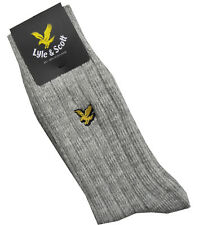 Gifts For Men LYLE & SCOTT Mens SK704AS Mid Grey Marl Chunky Rib Socks One Size