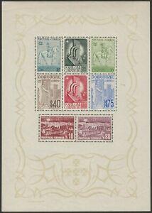 MNH! 594a, PORTUGAL 1940 PORTUGUESE INTL EXH SOUVENIR SHEET FRESH AND XF $275