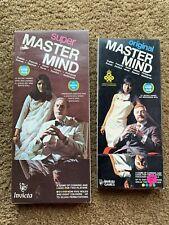 Vintage Original Master Mind and SUper Board Game Complete Plastic Vic Toy