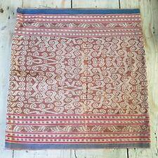 Antique Indonesian Sarawak Ceremonial Skirt Textile Kain Kebat Ikat Woven