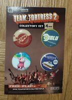 Lootcrate - Team Fortress 2  -  4 Badges Collectors Set