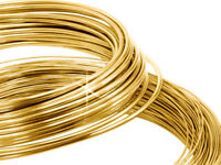 9ct Yellow Gold Soft Round Wire 0.5mm Diameter, 10mm to 50mm  - Jewellery Making