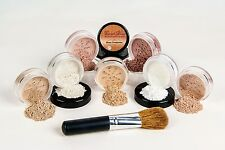 Face Special Mineral Makeup Set Brush Kit Full Size Bare Skin  Fair 2 & Bisque