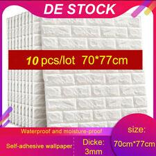 10 STK 3D Tapete Wandpaneele Selbstklebend Ziegel Wasserfest Wandaufkleber DE