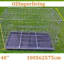"40"" Large Collapsible Metal Pet Dog Puppy Cage"