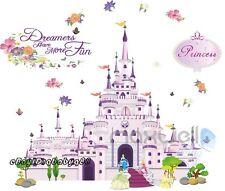 Large Disney Princess Castle Wall Sticker decal Removable kids nursery decor art