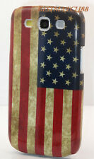 FOR SAMSUNG GALAXY S3 VINTAGE LOOKING US AMERICA AMERICAN FLAG CASE cover