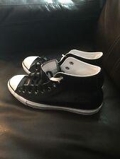 Leather Converse All Star Black White HI Tops Shoes 150800C Men's 11.5/Wmns 13.5