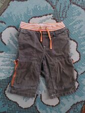 Mini Boden Boys SZ 6 Brown Gray Rib Waist Techno Cargo Adventure Shorts