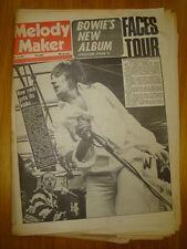 MELODY MAKER 1974 MAY 11 ROD STEWART DAVID BOWIE FACES
