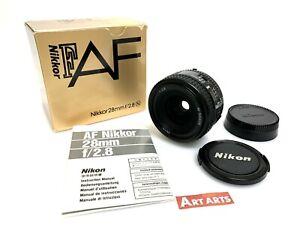 【MINT BOXED】 Nikon AF Nikkor 28mm f/2.8 Wide Angle AF/MF Lens F Mount from JAPAN