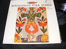 ARTIA 50s World Music GATEFOLD LP ROUMANIAN FOLK SONGS & Dances Clean DG Orignal