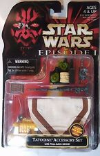 STAR WARS ~ TATOOINE ACCESSORY SET WITH PULL BACK DROID ~ HASBRO NEW IN PACKAGE