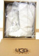 NIB UGG Australia Lo Pro Tall Stripe Canvas Boots Fawn / Ivory (Natural) Size 5