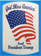 God Bless America And President Trump Personalized Sign For Indoor & Outdoor