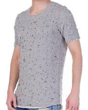 Unifarbene Herren-T-Shirts aus Mischgewebe