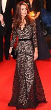 New Temperley London Black Lace Amoret Gown Dress Aso royal USA 4, Uk 8 Rare!!
