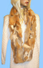 NEW WOMENS NATURAL RED FOX FUR SECTIONS SCARF MUFFLER 58 inch FUR ON BOTH SIDES