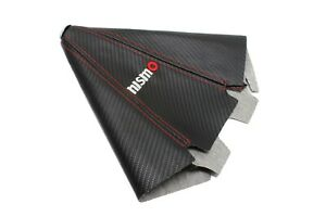 Car Shift Boot Manual Nismo Gaiter Carbon Fibre Shifter Universal Red/Black Gear