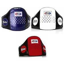 Fairtex BPV1 Belly Pad Muay Thai Boxing Protection Leather Kick MMA K1 Sporting