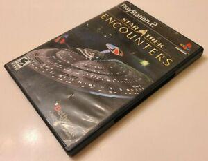 Star Trek: Encounters (Sony PlayStation 2, 2006, Complete In Box CIB, TESTED)