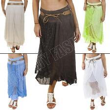 Cotton Maxi Skirts Plus Size for Women