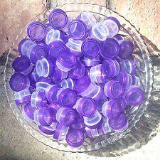 50 Tiny 1/4oz Jars Pretty Purple Cap Container posh meds 1tsp New 3301 DecoJars