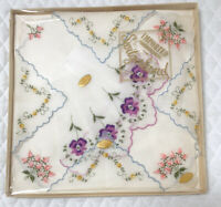 Handkerchiefs Gift Box Vintage Set Floral Imported from Switzerland 100% Cotton