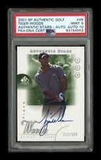 2001 SP Authentic Golf: #45 Tiger Woods Rookie Auto /900 PSA 9 AUTO 10