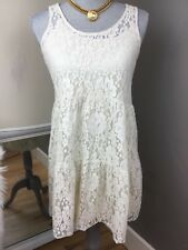 American Eagle Ivory Cream Sleeveless Lace Babydoll Cover up Slip Dress Size XS
