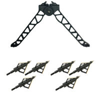 Ravin Crossbows TacHeads Quick-Detach Crossbow Bipod with HME Hunting Broadheads