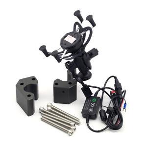 Handlebar Risers Adapter Navigation Bracket USB Charger For KAWASAKI GTR/ZG1400