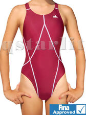 GIRL'S WOMAN YOUTH RACING COMPETITIVE ENDURANCE SWIMSUIT SWIMWEAR L 32 girl14