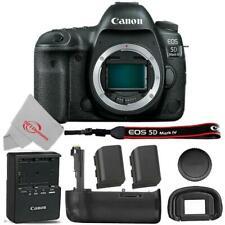 Canon EOS 5D Mark IV DSLR Camera Body + Extra Canon LP-E6N Batt + Battery Grip