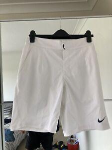 Nike Dri Fit Mens White Tennis Shorts Small