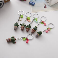 Cactus Metal Keyring Keychain Charm Pendant Purse Bag Car Key Decor Gift