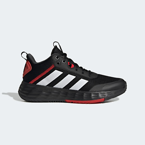 adidas Mens Ownthegame Basketball Shoes Black and Red