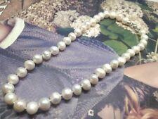 Collar De Gargantilla Perlas Naturales 10 mm Blancas Cultivada Agua