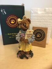 NIB Boyds Bears & Friends Bearstone Collection Abby T Bearymuch Yours Truly