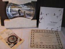 "Knowles Collector Plate 10703L Ducks ""The Mallard"" by Bart Jerner w/box & Coa"