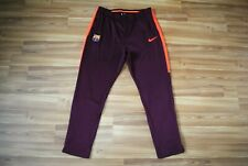 NIKE FC BARCELONA 2017/2018 DRY SQUAD TRACK PANTS BROWN COLOR SIZE XL RARE MINT