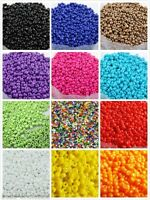 1000pcs 15g 2mm Round Opaque Lot Colorful Czech Glass Beads Jewelry Making