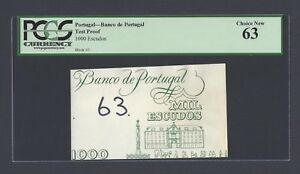 Portugal - Banco de Portugal 1000 Escudos Test Proof Vignette Uncirculated