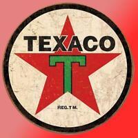 Vintage Texaco Vinyl Decal Sticker Retro Man Cave Gas Oil Garage Man Wall Tool