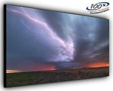 Storm on the Horizon Panoramic Canvas Wall Art Print Framed XXL 55 inch x 24 inc