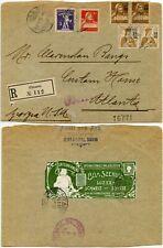 More details for switzerland 1915 advert label stamp dealer bela szekula lucerne regist.chiasso
