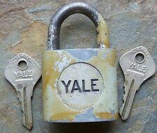 Vintage Yale & Towne  Padlock & Original Keys   Pot Metal Body & Steel Shackle