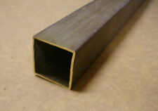 Barra Tubo Quadrato 30x30/28 mm in OTTONE LISCIO trafilato - raw brass 1/2 metro